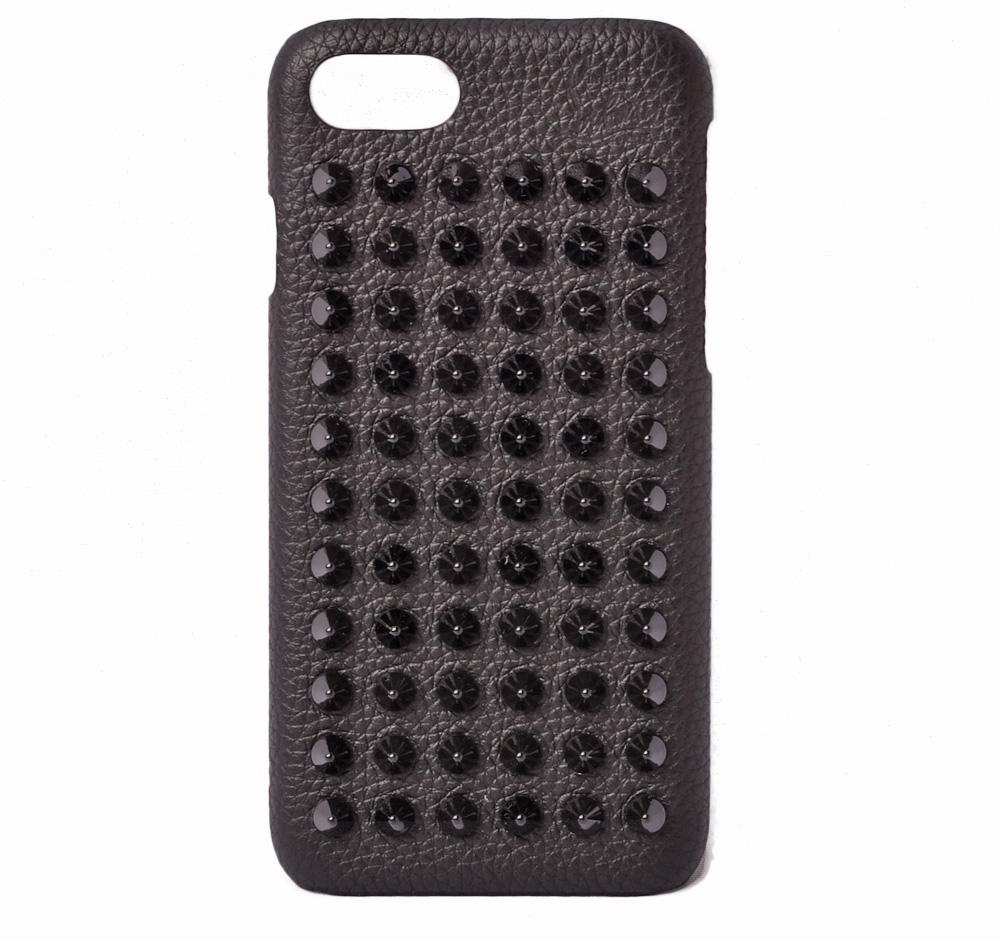 クリスチャンルブタン iPhone8ケース/iPhone7ケース Christian louboutin SPIKES/スパイク ブラック 1185124 CM53 Loubiphone Case Iphone 7/8新生活