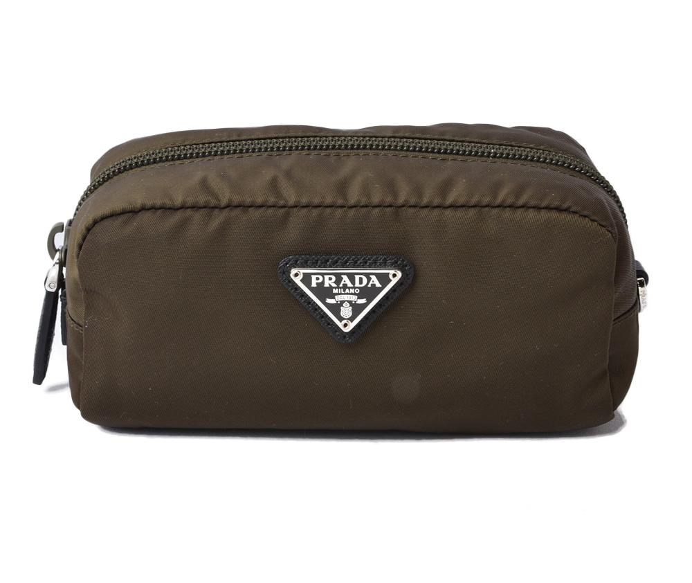 Prada cosmetics porch TESSUTO/ テスートアーミーグリーンアウトレット 1NE175-free outlet