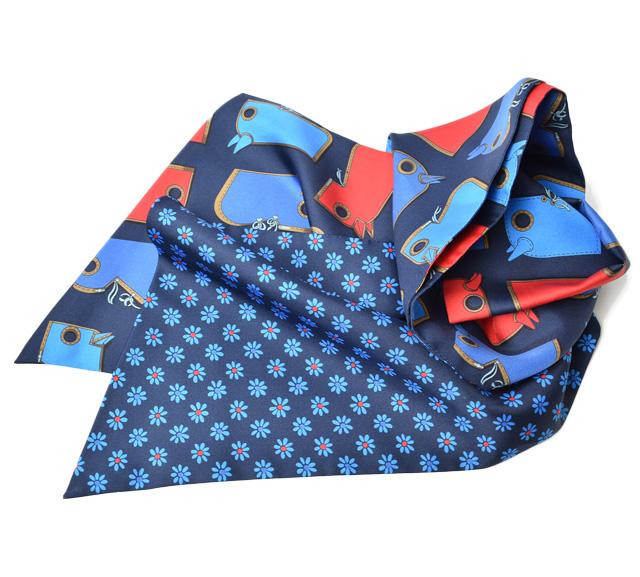 エルメス スカーフ HERMES マキシツイリー カット シルクツイル マリン 馬具 メイルオーダー ついに再販開始 ギフト 中古 プレゼント ルージュ未使用