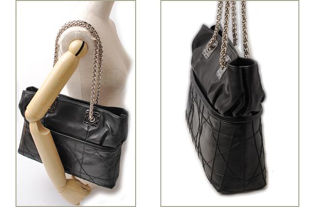 Dior Tote Bag Black Lambskin
