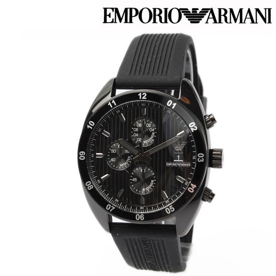 エンポリオ アルマーニ メンズ腕時計 EMPORIO ARMANI Sport クノログラフ ブラック AR5928