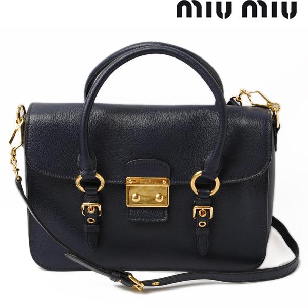 3821abfb094f Miu Miu shoulder bag   handbag Madras RN1013 goatskin BLUETTE   dark blue  2-way bag miu miu