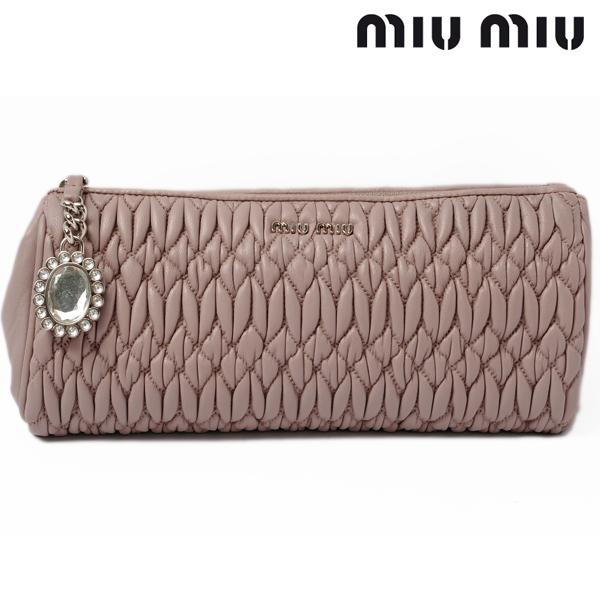 4c654dbfbe17 Import shop P.I.T.  Miu Miu miu miu minicratch bag   pouch matelass eacute   nappa MUGHETTO   light pink 5N1455