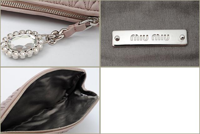 e648ef318c4a Miu Miu miu miu minicratch bag   pouch matelassé nappa MUGHETTO   light  pink 5N1455