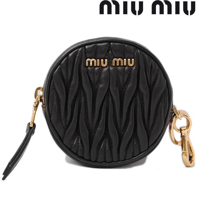 c10114f8df54 The unused miumiu Keyring with 5M1415 matelassé leather NERO   black Miu  Miu purse   coin