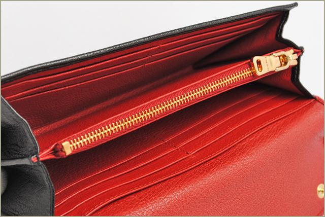 유덕화 miumiu 장 지갑 5M1109 MADRAS BICOLORE/마드라스 FUOCO + NERO/레드 + 블랙