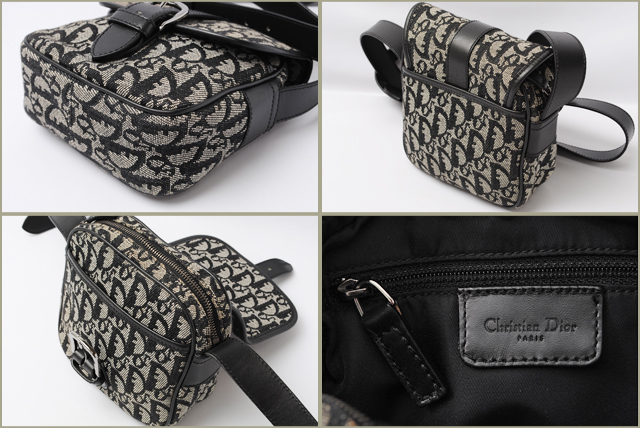 f642b103b61f Christian Dior Christian Dior shoulder bag   Pochette Trotter logo   black  jacquard and leather