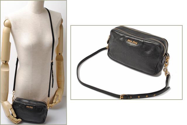 8d82fa228823 Miu Miu shoulder bag   clutch porch   miu miu leather shiny black 2way  Pochette