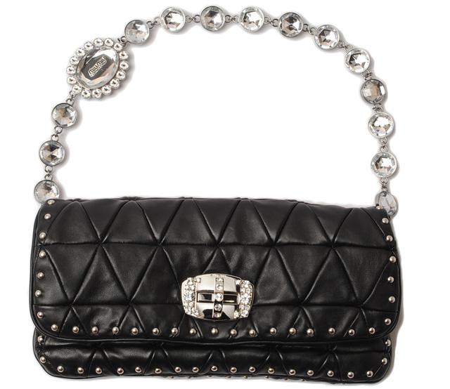 7e72febd782e Miu Miu shoulder bag   clutch bag. Miu miu RP0197 studded rhinestone black  strap