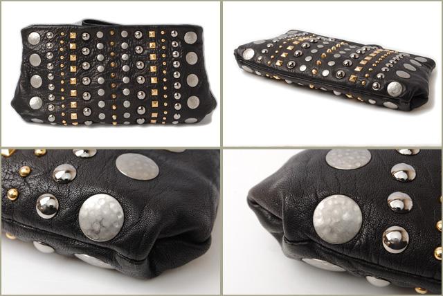 ca25f9b120ba Miu Miu minicratchbag   bag miu miu NAPPA studded Black   Silver   Gold