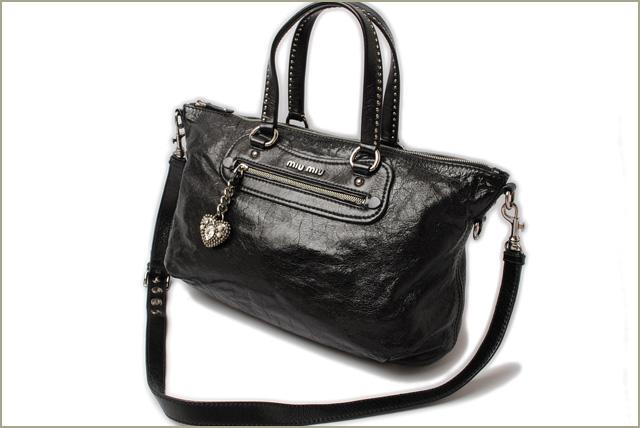 a35116b90359 Miu Miu shoulder bag   Tote 2-way miu miu studded vintage leather black  heart charm