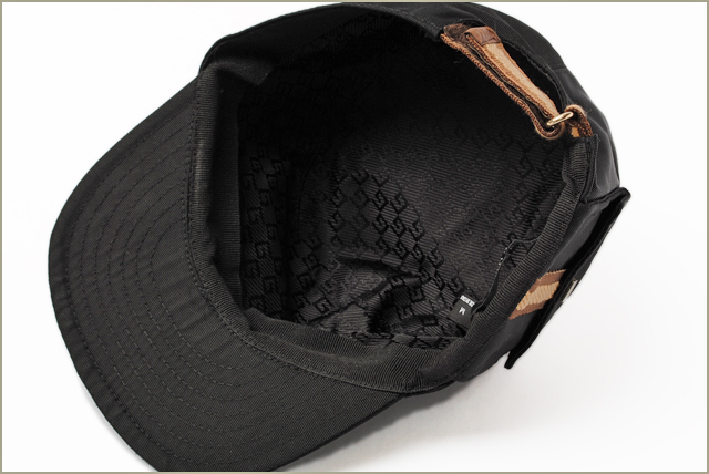 4e1bcc3040a81 Import shop P.I.T.  Gucci hat   cap men line canvas black 57cm brown ...