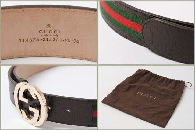 Gucci Belt Serial Number >> Unused Gucci Belts Gucci Interlocking G Buckle Canvas Green Red Brown 114876 Outlet