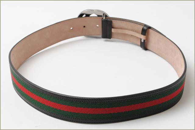 5c1e325ee9c Gucci belt men GUCCI sherry line green   red black 114984 H17AR 8476 outlet  mint condition