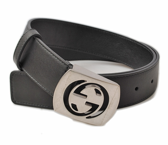 d15461502 Gucci belt men. GUCCI leather black / ヴィンテーシルバー 387031 AP00N 1000 グッチ 財布