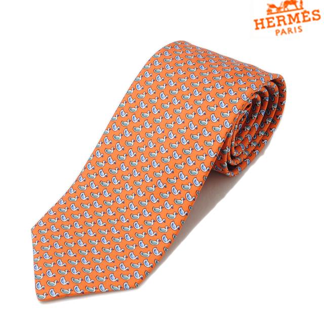bbd6558b9325 Import shop P.I.T.: Hermes tie HERMES mens Orange / Blue / gray silk ...