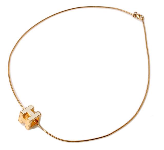 Import shop pit rakuten global market hermes pendant necklace hermes pendant necklace hermes cage ash h cube cream gold aloadofball Gallery