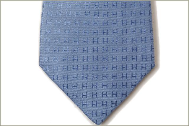 1d268705476b ... Unused Hermes tie HERMES 030189T SEYCHELLES / light blue 100% silk ...