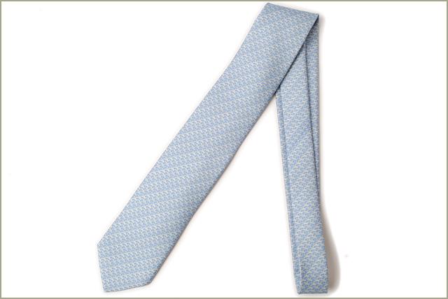 ba361d32d1ac Import shop P.I.T.: Unused Hermes tie HERMES 605903T CIEL/BLUE blue ...