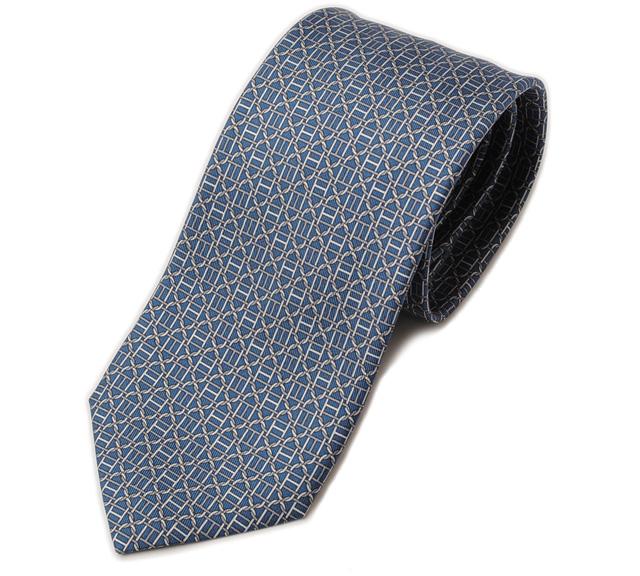 40935f33d3ee Import shop P.I.T.: Unused Hermes tie HERMES 605904T BLUE MOYEN blue ...