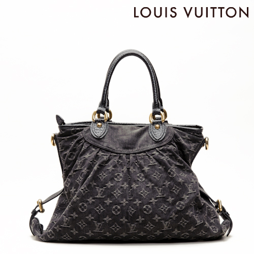 Louis Vuitton Monogram Denim Shoulder Bag Neo Cabby Gm Noir Black M95350