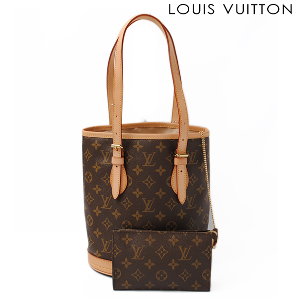 LOUIS VUITTON Louis Vuitton shoulder bag monogram petit pail M42238 [used] [smtb-TK]