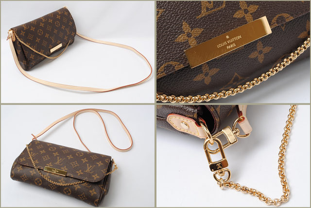 a5b86f60503c Louis Vuitton LOUIS VUITTON shoulder bag   clutch bag favorite PM M40717  Monogram strap with 3-way