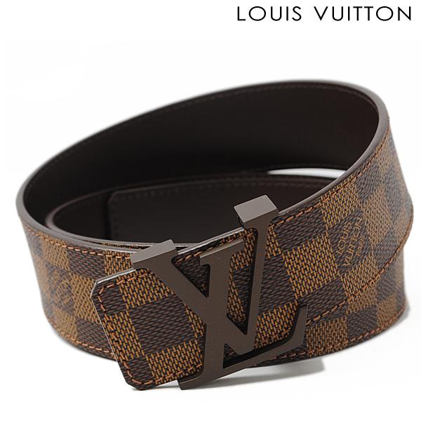 4d99fbcd4337 Import shop P.I.T.  Louis Vuitton LOUIS VUITTON belt Sun tulle LV initials  40 mm Damier M9821 reversible