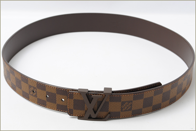 Louis Vuitton LOUIS VUITTON belt Sun tulle LV initials 40 mm Damier M9807 reversible