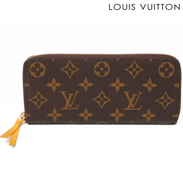 hot sale online 4b159 0eea3 Louis Vuitton LOUIS VUITTON long wallet wallet Clemence M60744 Mimosa  Monogram zipper