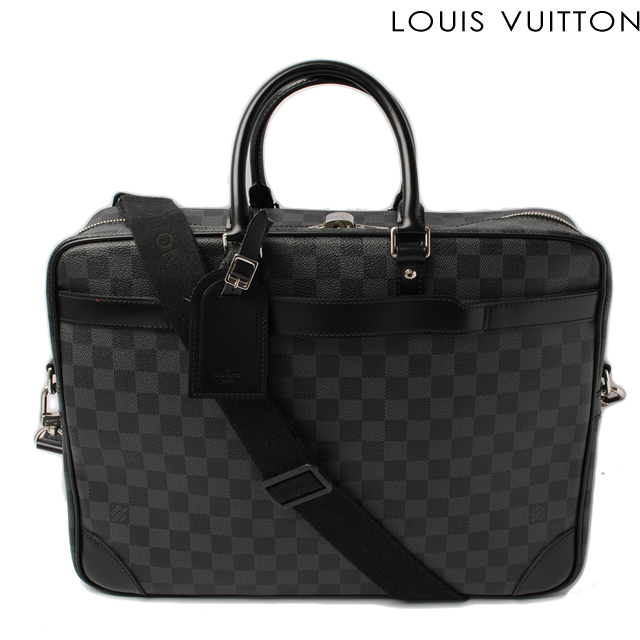 8190ed3a9fbee Louis Vuitton LOUIS VUITTON Business bag N41123 port document voyage GM  Damier graphite  廃盤品 07春夏 ルイヴィトン ダンテェル ダブルホック折財布 ゴールド ...