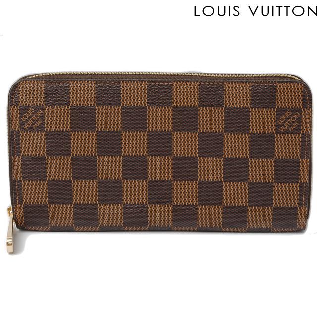 ルイヴィトン LOUIS VUITTON 長財布 ジッピー・ウォレット N60015 ラウンドファスナー式 ダミエ【中古】