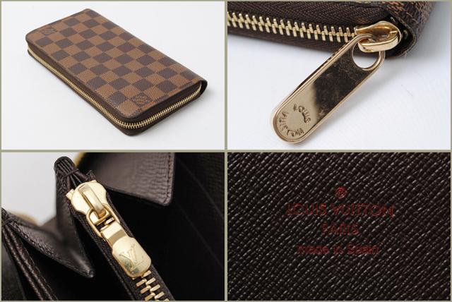 wholesale dealer 8ed85 764c1 Louis Vuitton LOUIS VUITTON long wallet ジッピー wallet N60015 round fastener  type ダミエ