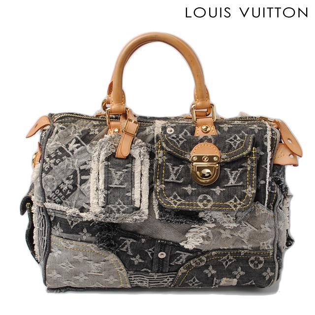 37ee1c3fe7a3 Louis Vuitton Handbags and mini Boston bag. LOUIS VUITTON speedy 30  Monogram Denim patchwork Gris   black M95381
