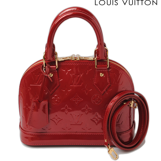Louis Vuitton Shoulder Bag Handbag Alma Bb M90174 Strap Vernis Cerise