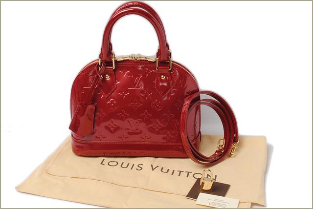 e57d8d672800 Louis Vuitton shoulder bag   handbag LOUIS VUITTON Alma BB M90174 strap Vernis  Cerise
