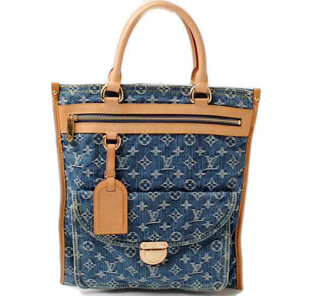 0630bc646e6 Import P I T Louis Vuitton Tote Bag Purse. Craft Gone Awry Monogram Denim  ...