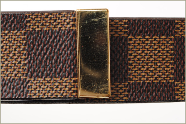 832d88e29633 Men s Louis Vuitton belt. Sun tulle Damier LOUIS VUITTON 30 mm Damier M6944W