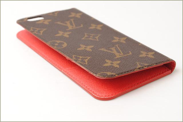 premium selection cf330 3f326 Louis Vuitton iphone 6 plus case / 6 s plus case LOUIS VUITTON iphone 6 +  Folio Monogram / Rouge M61630