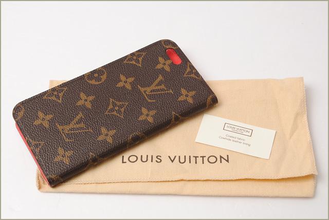 premium selection d456e 7dd23 Louis Vuitton iphone 6 plus case / 6 s plus case LOUIS VUITTON iphone 6 +  Folio Monogram / Rouge M61630