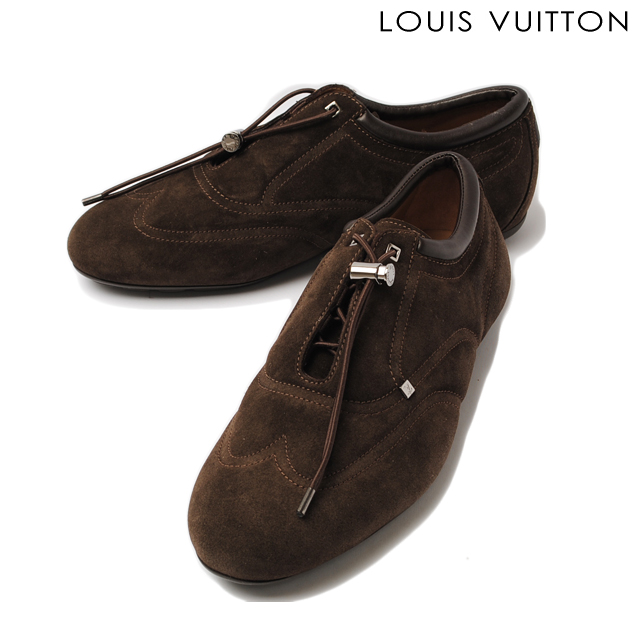 9394946f92ea Louis Vuitton LOUIS VUITTON Suede leather dark brown men s shoes shoes