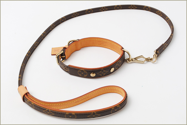 2c3e9d796441 Louis Vuitton LOUIS VUITTON medium dog lead and collar lessons Baxter    Kohler Baxter M58071 MM M58055 Monogram