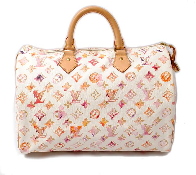 Louis Vuitton Handbags LOUIS VUITTON speedy 30 Monogram watercolor M95751  Bron   white 5444a17832