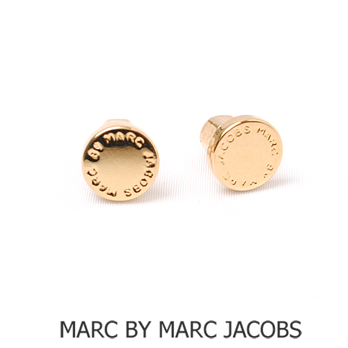 Marc By Jacobs Mark Accessories Pierced Earrings Logo Gold M3pe521 Is New