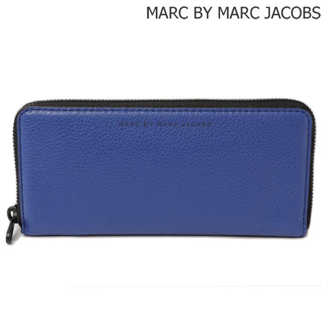 マークバイマークジェイコブス 長財布 MARC BY MARC JACOBS メンズ スリムジップ MINERAL BLUE/ブルー M0003198