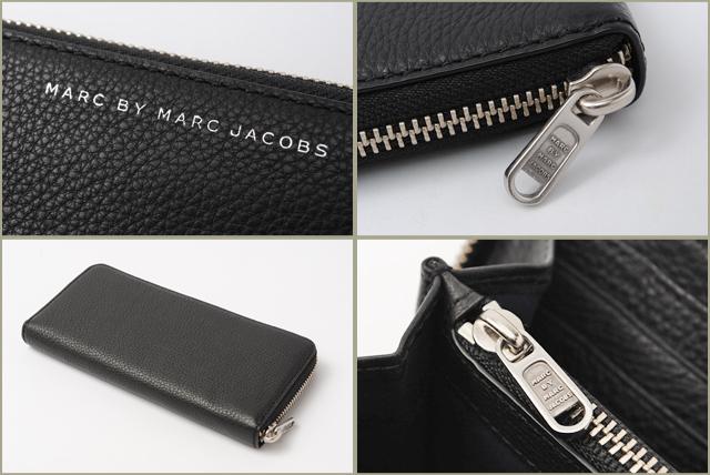 705a72bb600c MARCBYMARCJACOBS(マークバイマークジェイコブス)ラウンドファスナー式財布ブラック(BLACK)