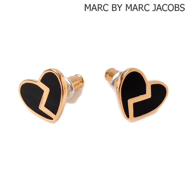 Marc By Jacobs Earrings Heart Motif Brack Black M0006553 Accessories
