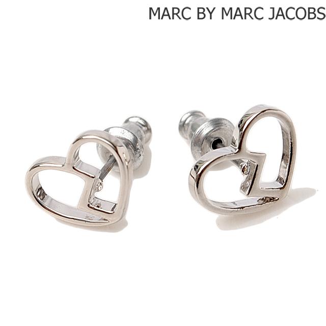 Marc By Jacobs Earrings Heart Motif Silver M0006554 Jewelry