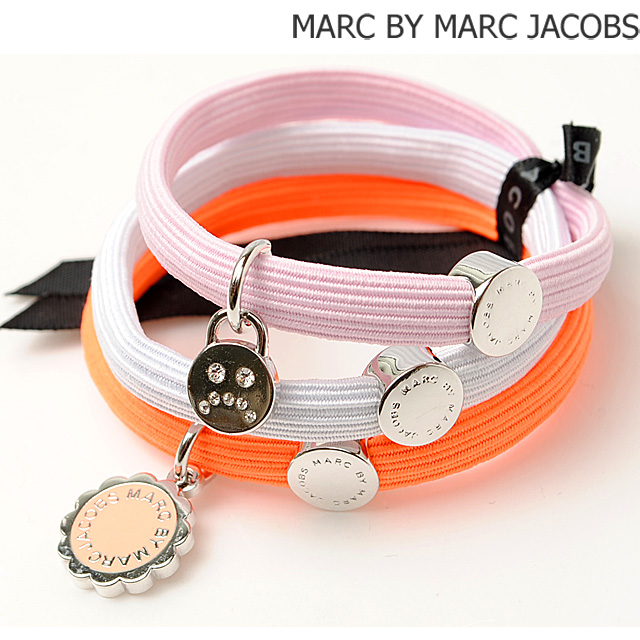 190f36af90f Marc by Marc Jacobs hair accessories   triple Bangle MARC BY MARC JACOBS...  pony logo   neon Orange multi M0006460