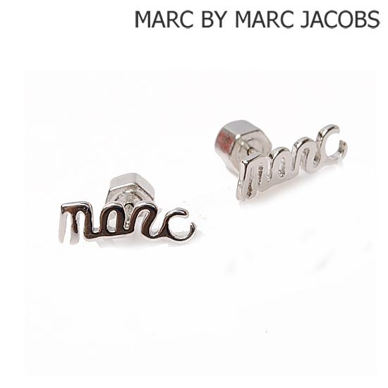 MARC BY MARC JACOBS Marc by Marc Jacobs earrings cursive logo 'marc' Silver (ARGENTO) M3PE520